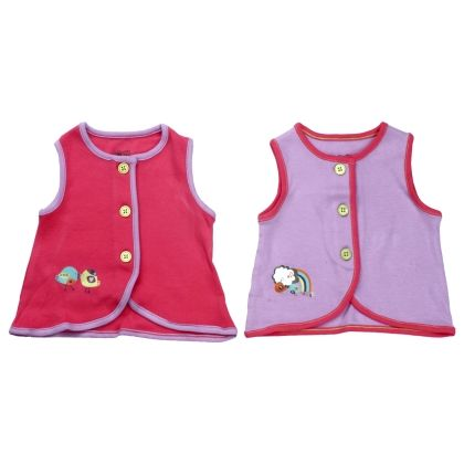 Pink & Lavender Vests Set Of 2 - Mini Klub