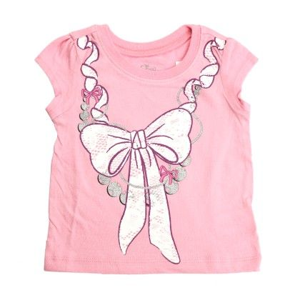 Lace Bow Print Tee - The Children's Place