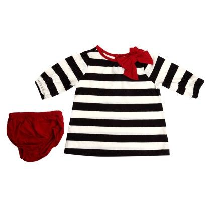Knit Striped Dress With Bow - The Children's Place