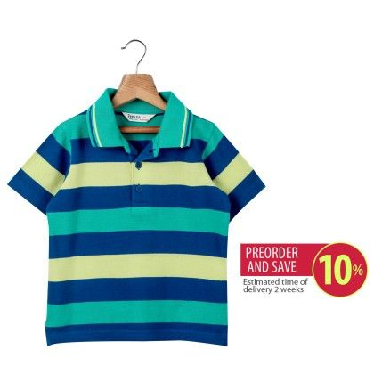 Stripe Polo T-shirt Multi Stripe - Beebay