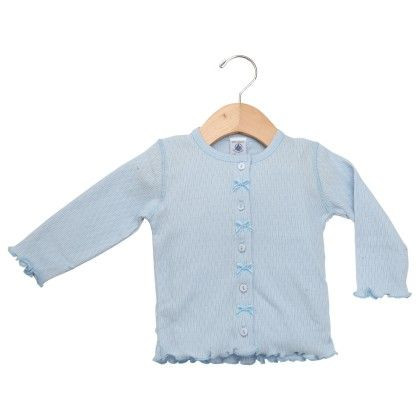 Blue Front Button Opening Tops - Petit Bateau