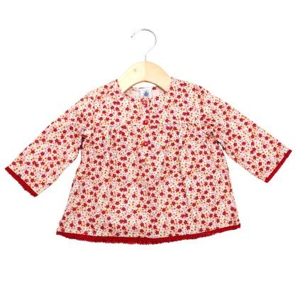 Red Tops With Floral Design - Petit Bateau