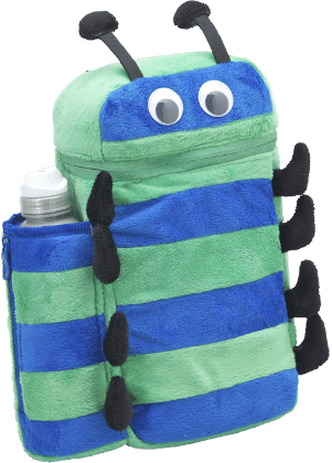 Bug Backpack And Bottle - Green & Blue - SMASH
