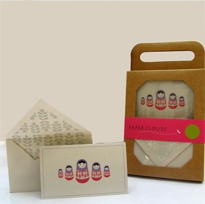 Stationary Kit Set Of 12 - Matryoshka Doll - PAPER CLOUDS
