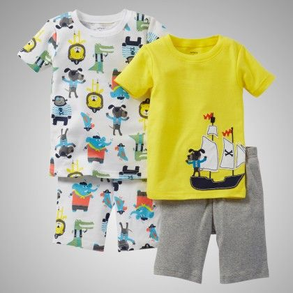 4 Piece Snug Fit Cotton Pajama - Pirate Print - Carter's
