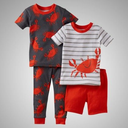 Crab Print 4 Piece Pajama Set - Carter's