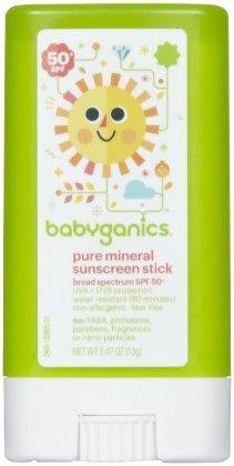 Pure Mineral Sunscreen Stick Spf 50- 13 G - BabyGanics