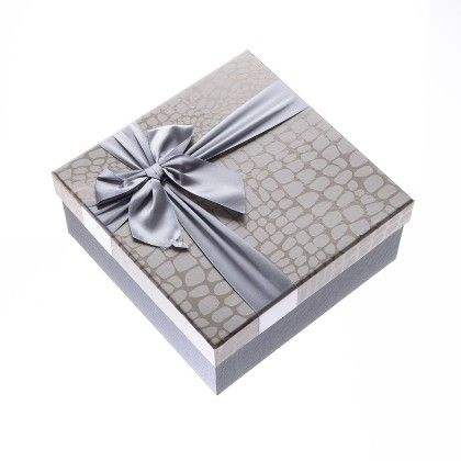 Silver Imported Satin Ribbon Big Boxes - The Gift Box