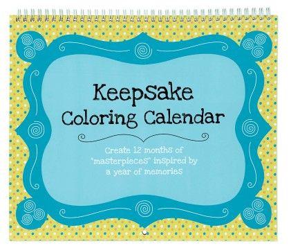 Keepsake Coloring Calendar- Keepsake Coloring Calendar - CR Gibson