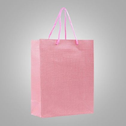 Pink Gift Paper Bags - Set Of 2 - Ribbon