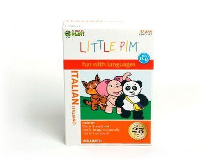 Little Pim Italian 3-pack Dvds (vol. Ii)