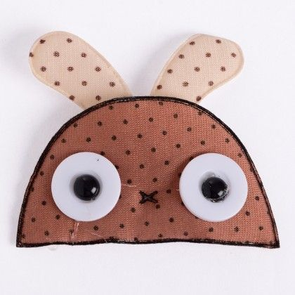 Cute Brown Dot Bunny Clip - Strawberry Club