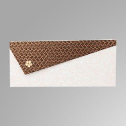 Triangular Flap With Crystal Flower - Copper Pack Of 5 - The Gift Bag