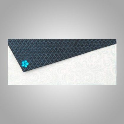 Triangular Flap With Crystal Flower - Navy Pack Of 5 - The Gift Bag