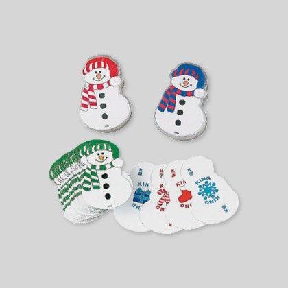 Snowman-shaped Playing Cards - Set Of 12 - Hullabaloo