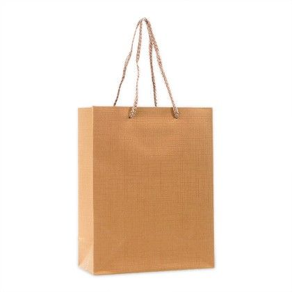 Golden Gift Paper Bags - Set Of 2 - Ribbon