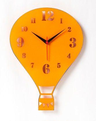 Air Balloon Modern Wall Clock - Orange - NIDOKIDO