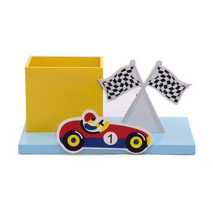 Racer Car Pencil Stand With Base - KIDOZ