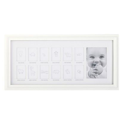 Photo Frame - Mdf- First Year Frame - White - CR Gibson