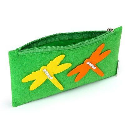 Green Dragon Fly Stationery Pouch - Li'll Pumpkins