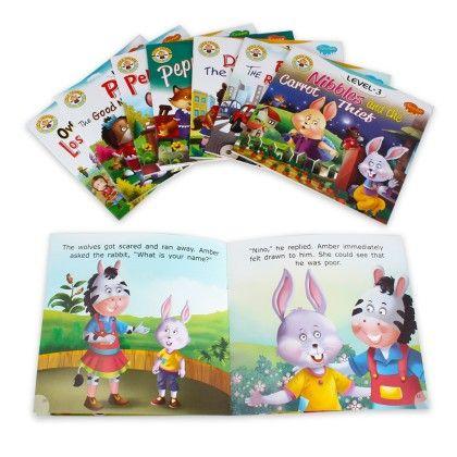 Little Friends Moral Stories Level 3 - Set Of 8 - SAWAN