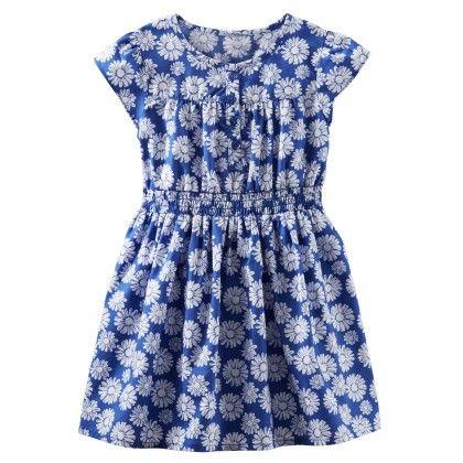 Short-sleeves Woven Floral Print Dress - OshKosh B'gosh