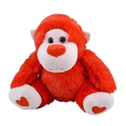 Plush Valentine Animal Gorilla- Red - Gifts Of Love