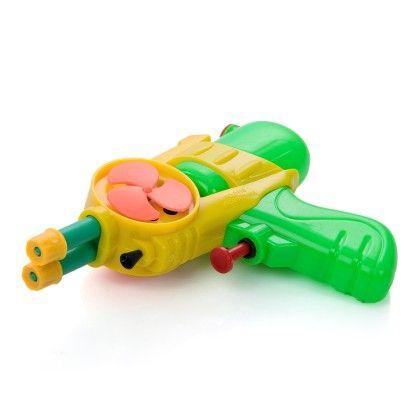 Green Transperant Gun With Fan Spray Up To 25 Mtrs - Holi Splash