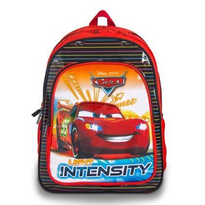 Genius Disney Act Cars School Bag- Red & Black