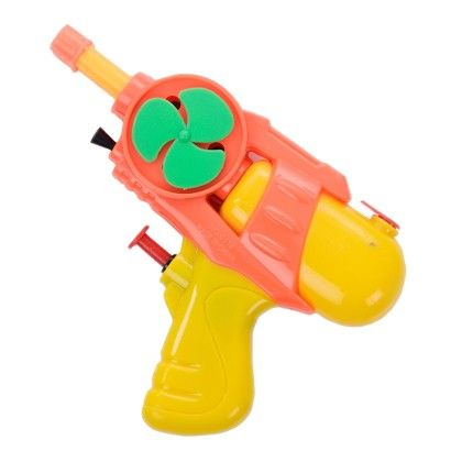 Yellow Transperant Gun With Fan Spray Up To 25 Mtrs - Holi Splash