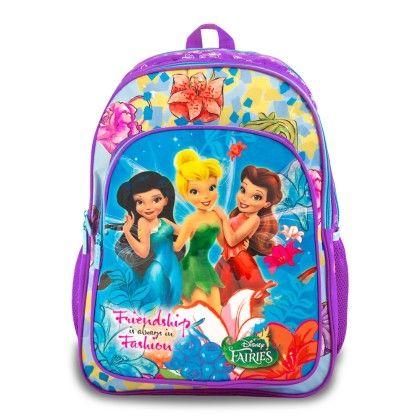 Genius Disney Act Fairies School Bag- Purple