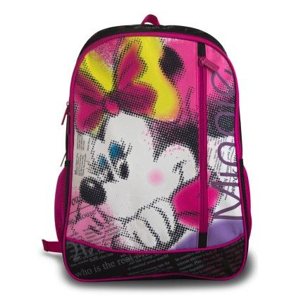 Genius Disney Act Minnie School Bag- Pink & Black