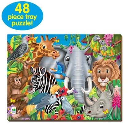 Lift & Discover Jigsaw Puzzle - Animals Of The World - Learning Journey