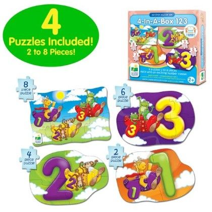 My First Puzzle Sets  4-in-a-box Puzzles - 123 - Learning Journey