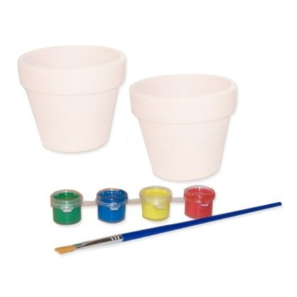 Paint Your Own Flower Pots - Sassafras