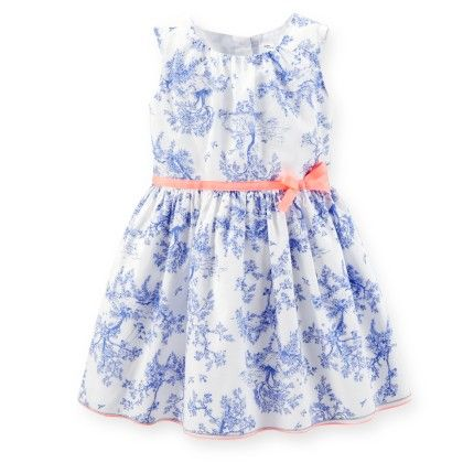 Blue Porcelain Print Dress - Carter's
