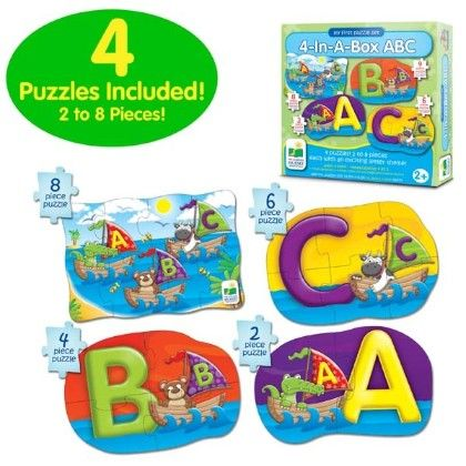 My First Puzzle Sets  4-in-a-box Puzzles - Abc - Learning Journey