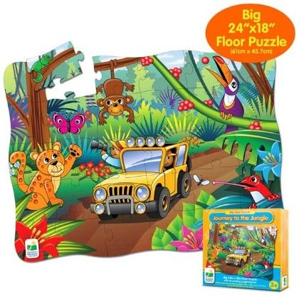 Big Floor Puzzles - Journey To The Jungle - Learning Journey