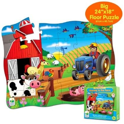 Big Floor Puzzles - Journey To The Farm - Learning Journey