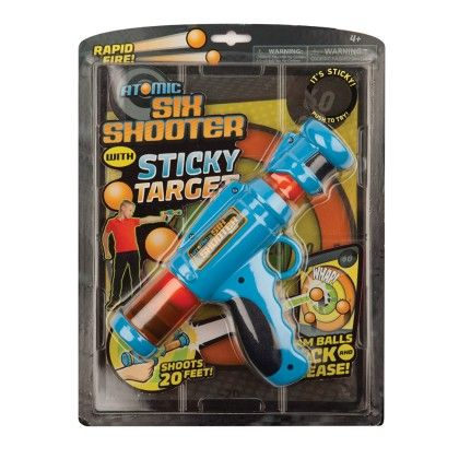Atomic Six Shooter & Sticky Target - The Hog Wild Toys