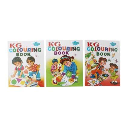 Kg Colouring Books Set Of 3 - SAWAN