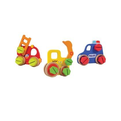 Boikido Wooden Vehicle Constructions 36 Piece Set