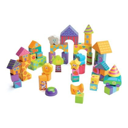 Boikido Wooden Blocks - 50 Pieces