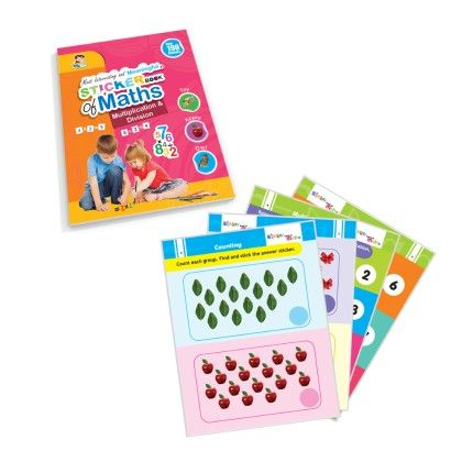 Sticker Book Of Maths -multiplication & Division - Future Books