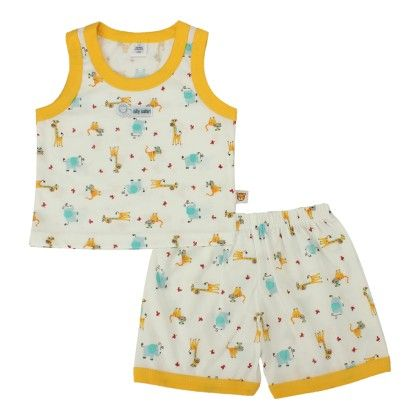 All Over Giraffe Printed Nightsuit - TOFFYHOUSE
