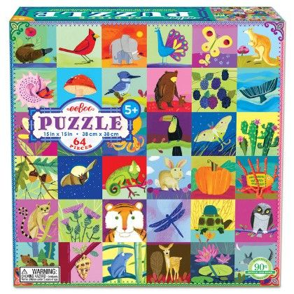Portraits Of Nature 64 Piece Puzzle - EeBoo