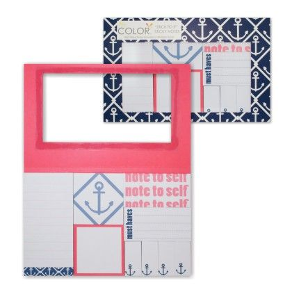 """stick To It"" Sticky Notes - Classic Anchor - ALL FOR COLOR"