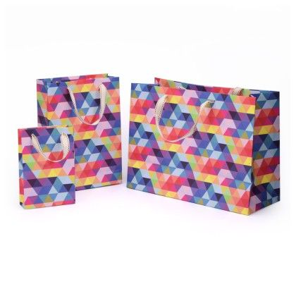 Prism Gift Bag Set Of 3 - Magnolia Design