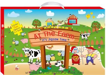 Art Factory - At The Farm (my Big Box Of Puzzle & Book Fun)