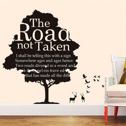 Uberlyfe The Road Not Taken Wall Sticker